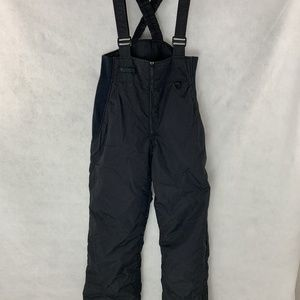 COLUMBIA Mens  Black Insulated Bibbed Ski Pants